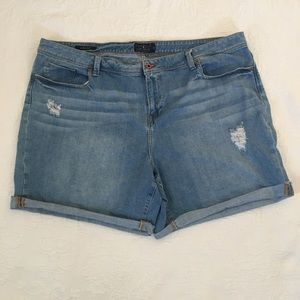 Lucky Brand Georgia Shorts roll up Distressed 24W